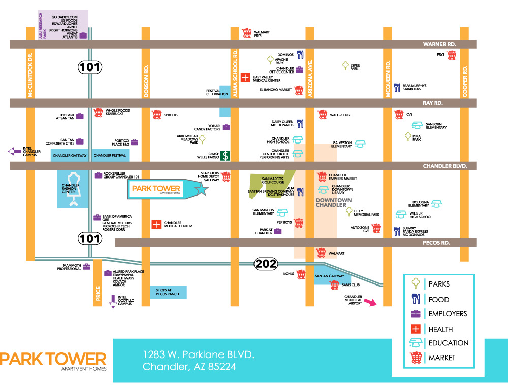 Park Tower Map